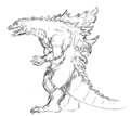 Concept Art - Godzilla 2000 Millennium - Godzilla 30