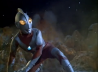 Ultraman defending the Solar System against Tyrant on Uranus