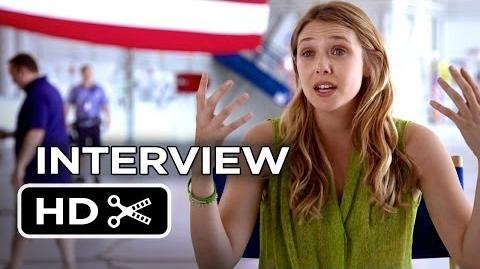 Godzilla Interview - Elizabeth Olsen (2014) - Bryan Cranston Monster Movie HD