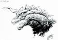Concept Art - Godzilla vs. SpaceGodzilla - SpaceGodzilla Head 1