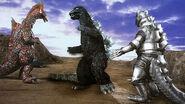 Godzilla vs Titanosaurus y mechagodzilla