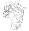 Concept Art - Godzilla Final Wars - Keizer Ghidorah Head Right