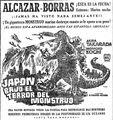 Japon bajo el Terror del Monstruo AFICHE