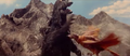 All Monsters Attack - Giant Condor flies in while in stock footage form 9-5
