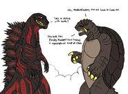 Godzilla s new look by thewatcherofworlds-d9segr3