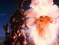 Jikiro makes an explosion