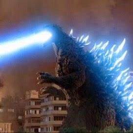 Godzilla 2003 Rayo Atomico