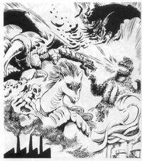 Godzilla vs. Redmoon Concept Art