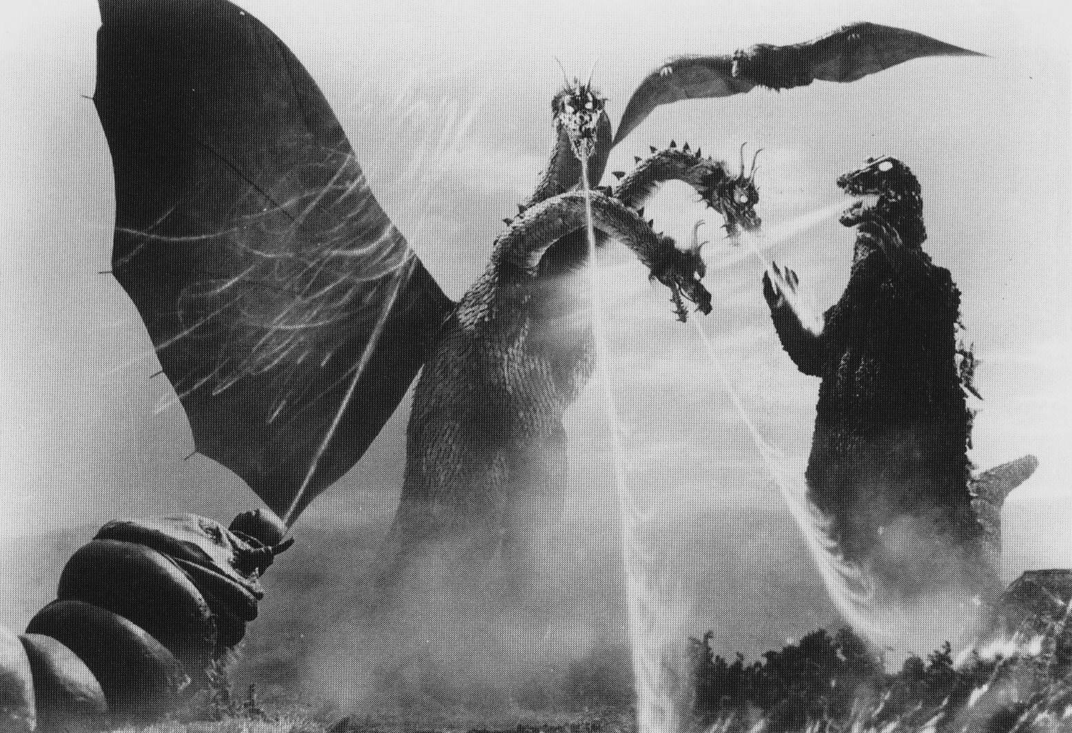 Dibujos Godzilla Raids Again 1955 Para Colorear: Godzilla, Rodan And Mothra Vs. King