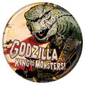 Godzilla 2014 Buttons - Cartoon