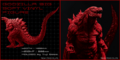 Godzilla Planet of the Monsters - Red Vinyl Godzilla figure