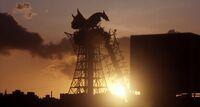 Super Gyaos perched at dawn