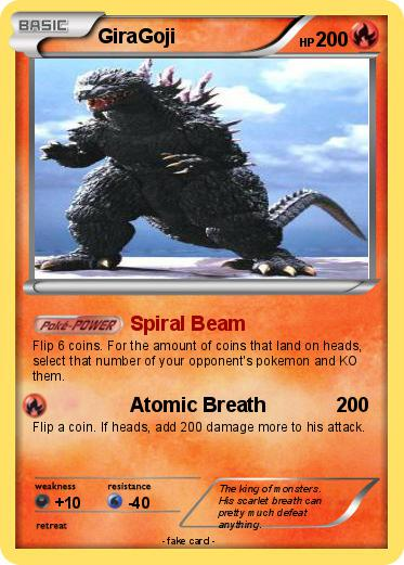 Make Pokemon Cards Based On Godzilla Gamera Characters