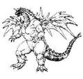 Concept Art - Godzilla vs. SpaceGodzilla - SpaceGodzilla 7
