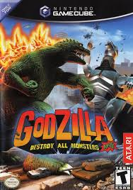 Godzilla destroy all Monsters melee VideoGame Poster