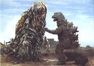 Godzilla vs Hedorah Batalla