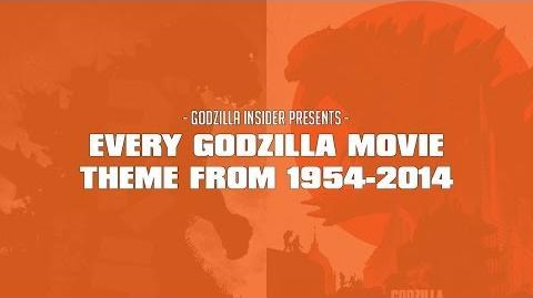 EVERY GODZILLA THEME FROM 1954-2014