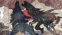 MUTO Prime embistiendo a Dagon