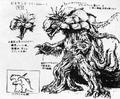 Concept Art - Godzilla vs. Biollante - Biollante 2