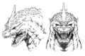 Concept Art - Godzilla vs. SpaceGodzilla - SpaceGodzilla Head 2