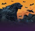 Godzilla Planet of the Monsters - Halloween x Godzilla - Backdrop