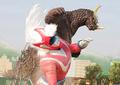 Tsunojiras fighting Godman