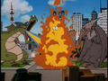 Godzilla and Rodan parody in Warners & the Beanstalk