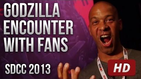 Godzilla Encounter Reactions @ SDCC 2013 HD