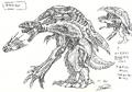 Concept Art - Godzilla 2000 Millennium - Orga 5