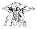 Concept Art - Godzilla 2000 Millennium - Orga 33