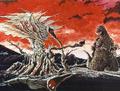 Concept Art - Godzilla vs. Biollante - Godzilla vs. Rose Biollante 1