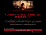 Godzilla One Month Away