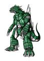 Concept Art - Godzilla Against MechaGodzilla - Kiryu 33