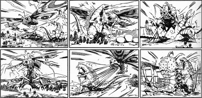 Dibujos Godzilla Raids Again 1955 Para Colorear: Image - Gigamoth Storyboard.png