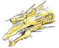 Concept Art - Godzilla vs. King Ghidorah - Mecha-King Ghidorah Head 3