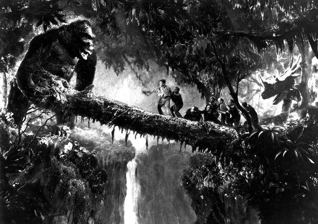 File:King Kong 1933 Log Bridge Production Pic.jpg