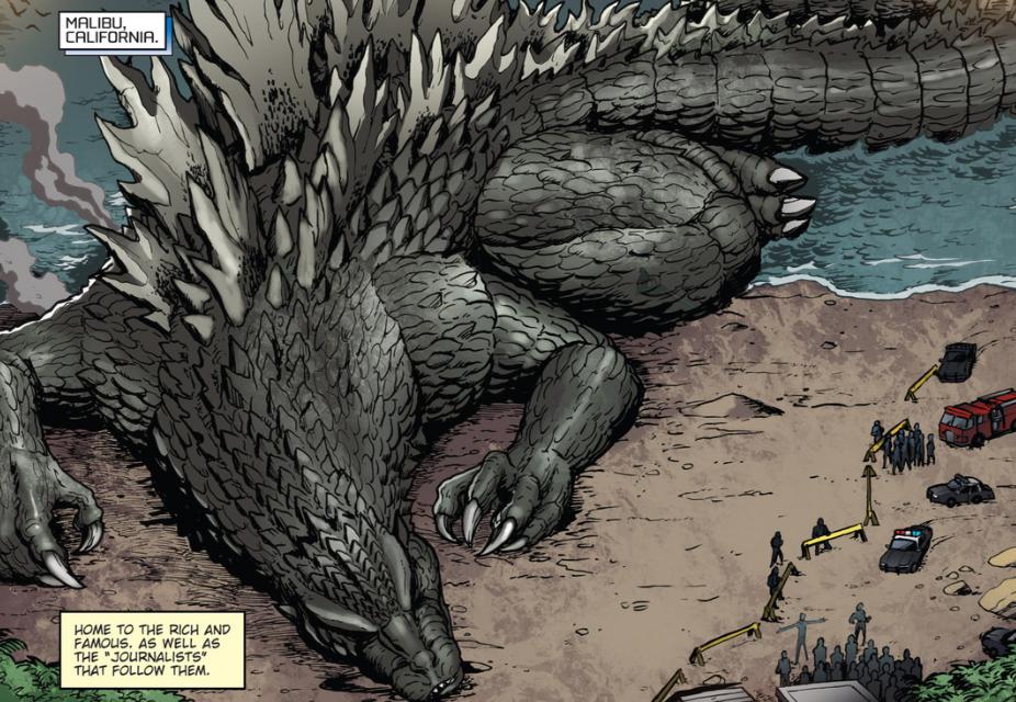 Dibujos Godzilla Raids Again 1955 Para Colorear: Image - RULERS OF EARTH Issue 4 - 1.png