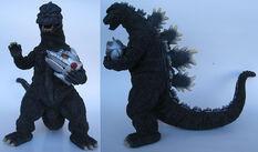 Godzilla 75 con la cabeza de mechagodzilla