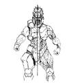 Concept Art - Godzilla Against MechaGodzilla - Kiryu 25