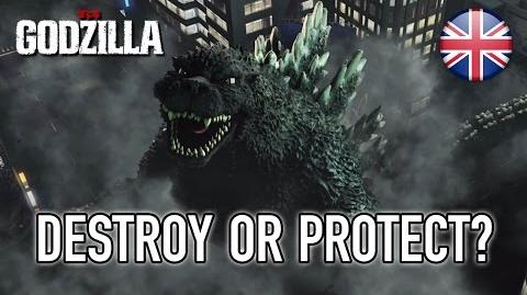 Godzilla - PS3 PS4 - Destroy or protect? (English trailer)