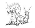 Concept Art - Godzilla vs. Mothra - Battra Larva 16
