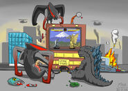 Godzilla vs muto by mickking-d7jducp