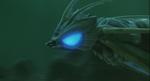 Aqua Mothra Underwater