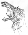 Concept Art - Godzilla 2000 Millennium - Godzilla 16