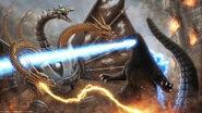 Godzilla rematch by metal potato alex-d7k01ze