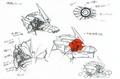 Concept Art - Godzilla Tokyo SOS - Kiryu Damaged Eye 1