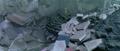 Godzilla vs. Megaguirus - Godzilla has some rubble on top of him