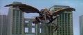 Godzilla vs. Megaguirus - Megaguirus' pincer falls off