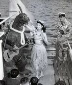 History In Pictures - Godzilla Cast Has Party After Finishing Filming (1954)