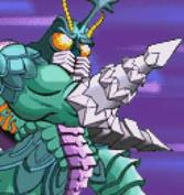 Gojira Kaiju Dairantou Advance - Battle Sprites - Megalon